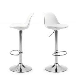 Lot de 2 tabourets de bar design Ocala_