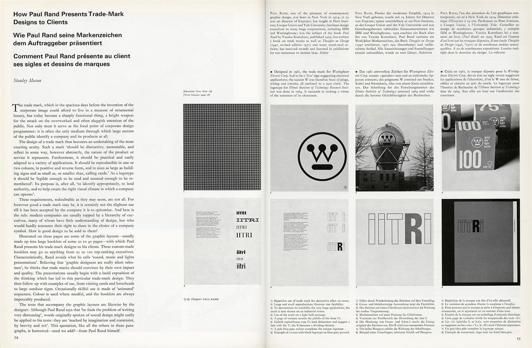 How Paul Rand presented logos to clients | Trade mark, Logos and ...