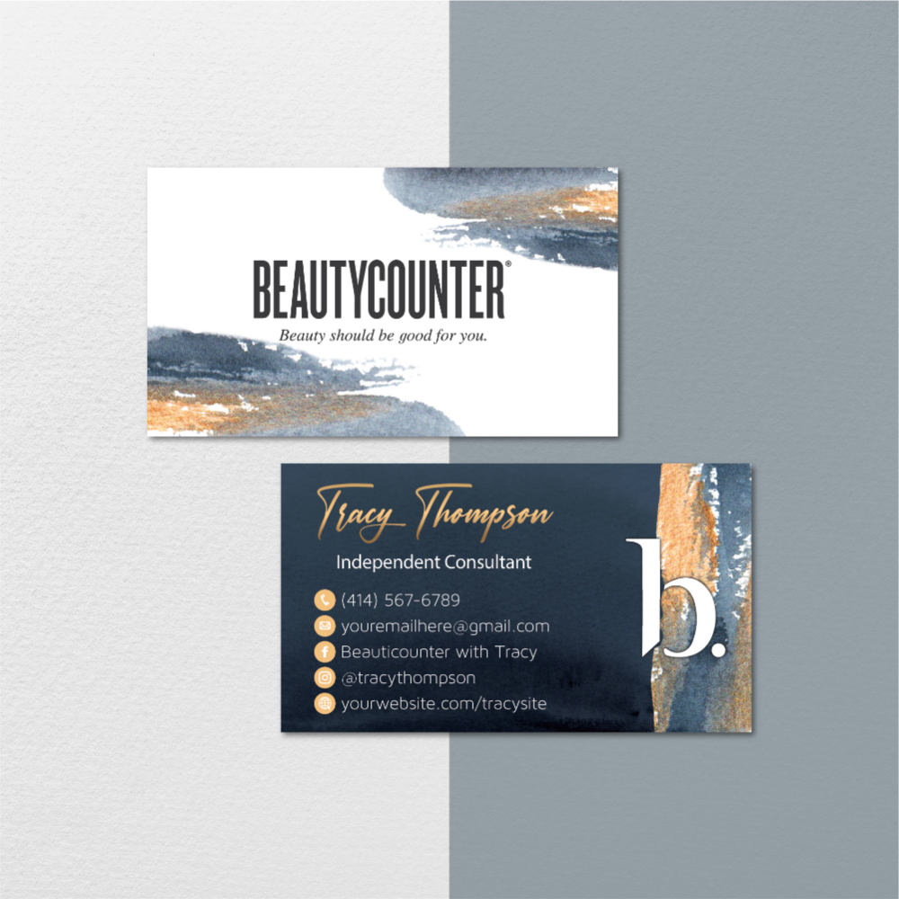 Beautycounter Business Card Watercolor Business Card Watercolor Personalized Beautycounter Business Card Printable Card Bc104 In 2020 Beautycounter Business Watercolor Business Cards Printable Business Cards