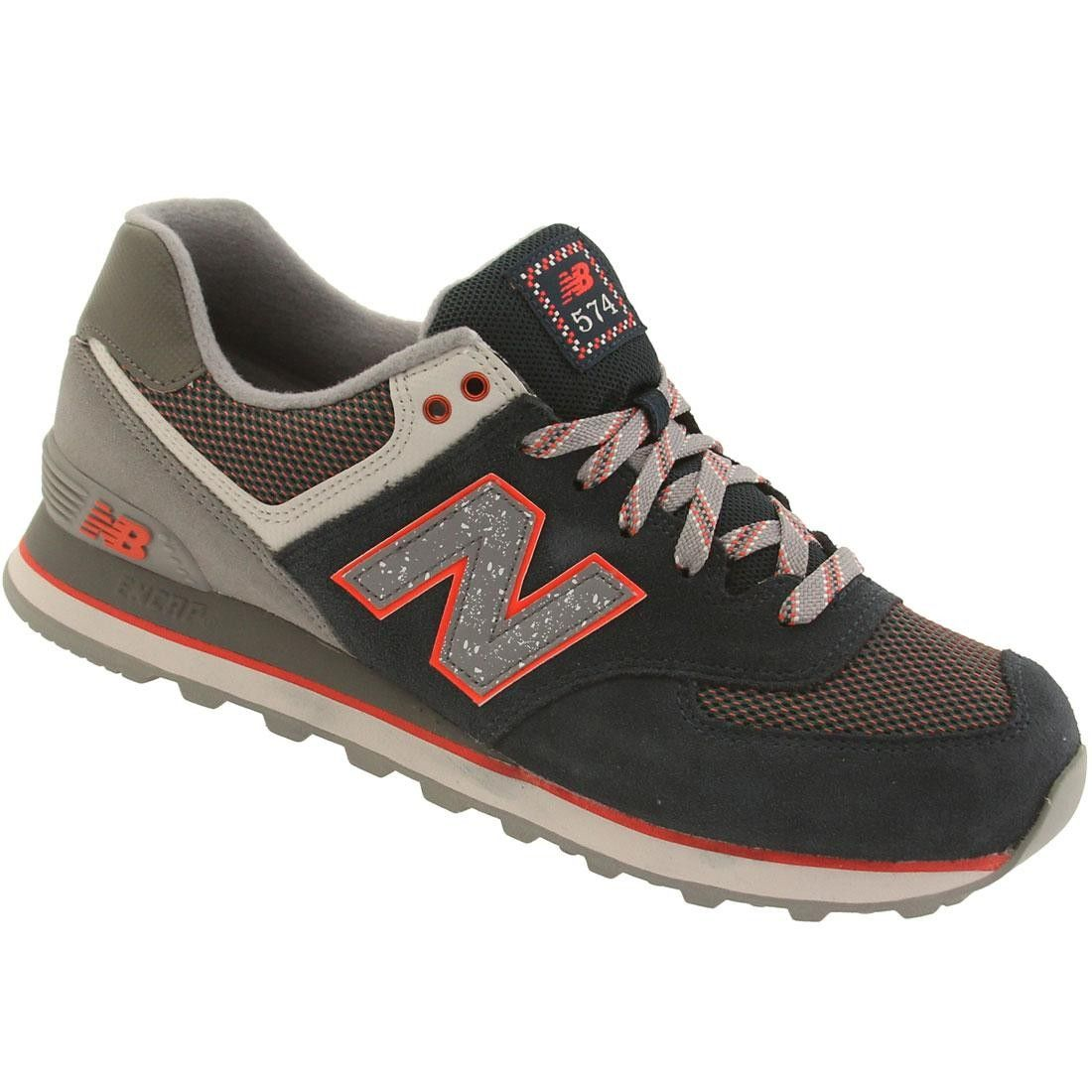 the latest 2a8bc a24be New Balance Men ML574OIA 574 Outside In navy deep water cool grey orange