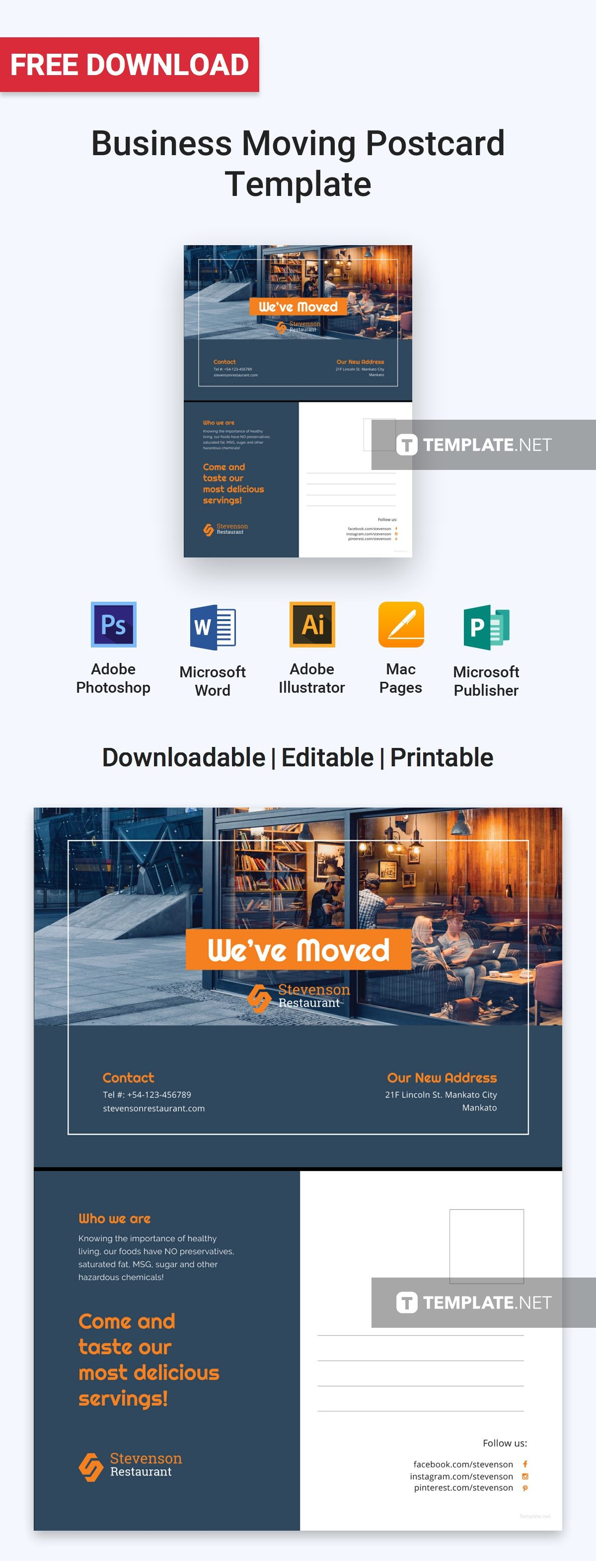 Download Business Moving Postcard Template For Personal Amp Use Professionally Designed Free Templates