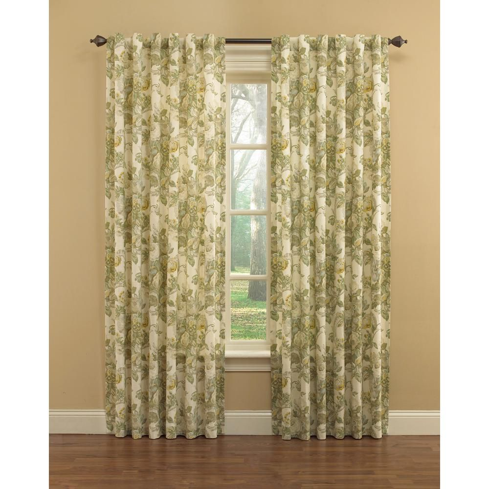 Waverly Spring Bling Window Curtain Panel In Platinum 52 In W X
