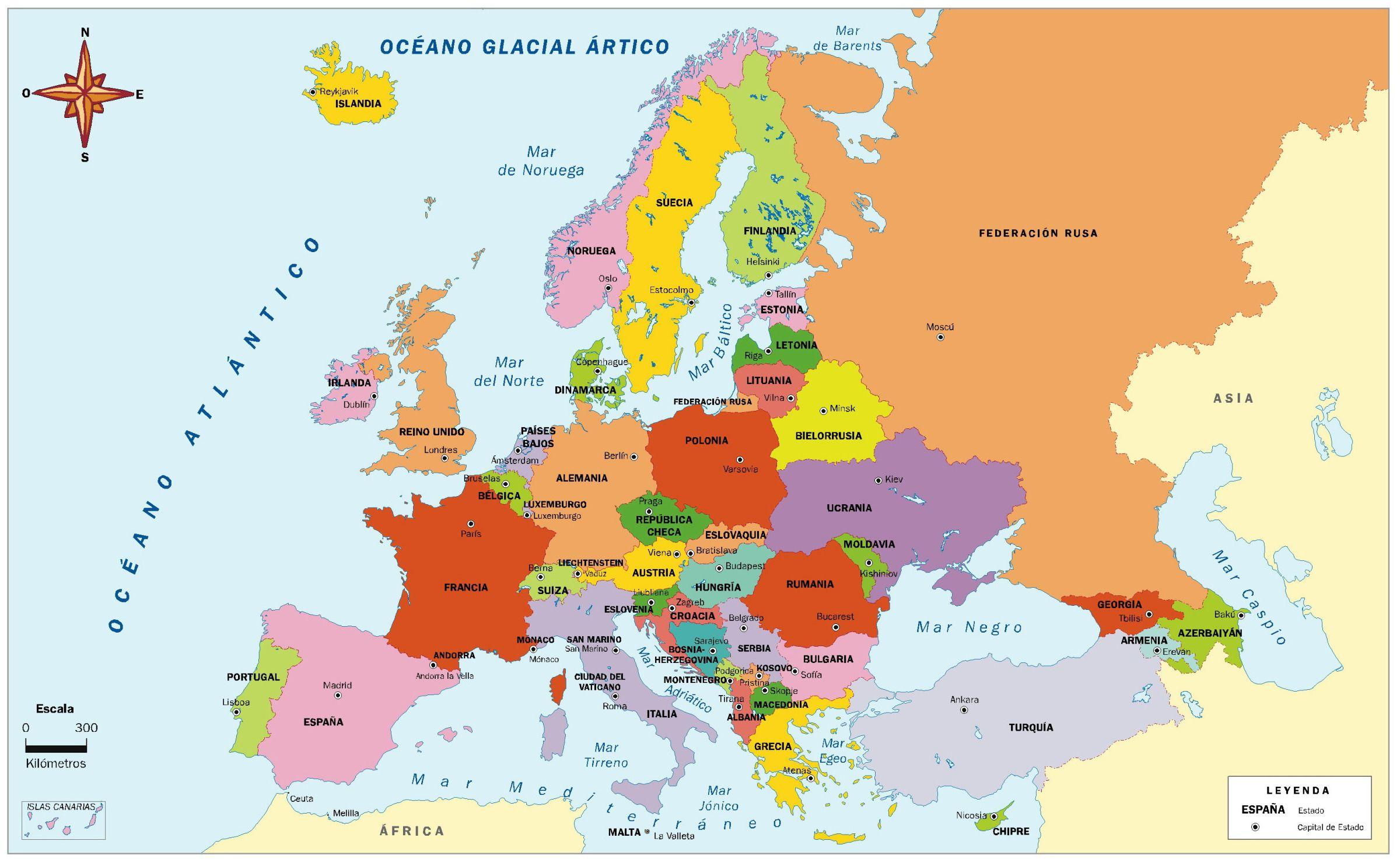 Mapa Politico De Europa Mapa De Europa Mapa Politico De Europa