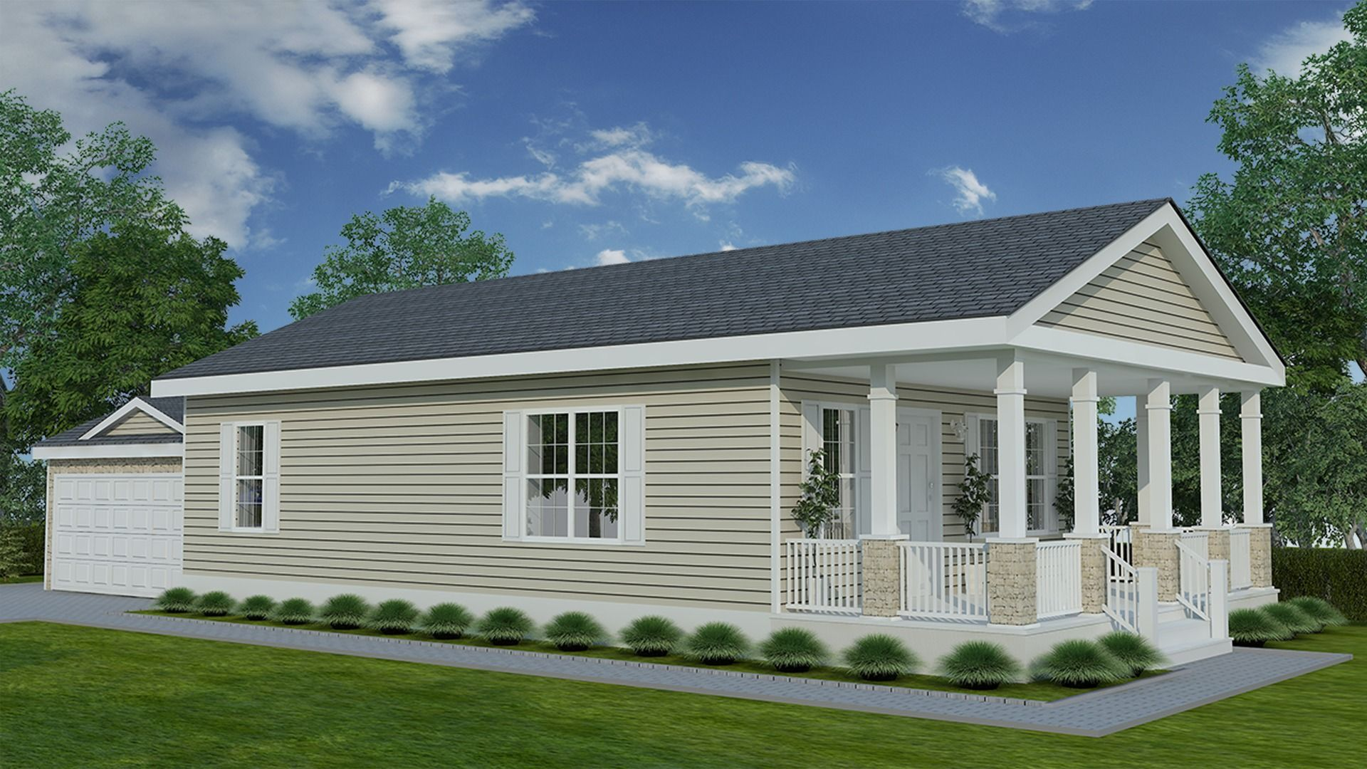 New Day Ranch Modular Home 3 Bed 2 Bath 1 067 Sf Next Modular Serving Homeowners In Indiana And Michigan Call 574 Modular Homes Modular Home Prices Home