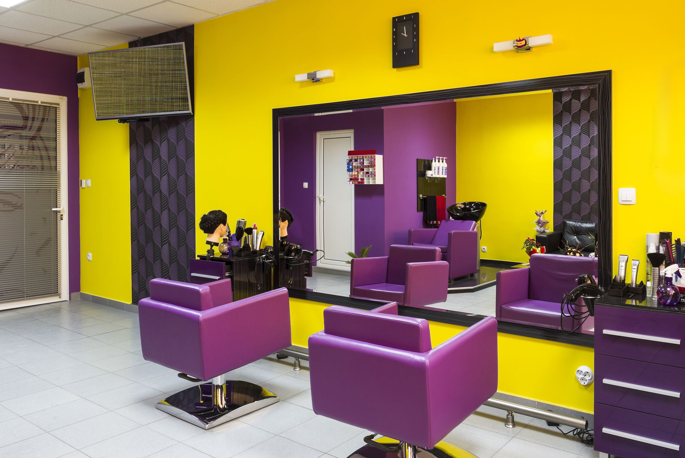 Bold Yellow And Purple Are Perfect Wall Colors For This