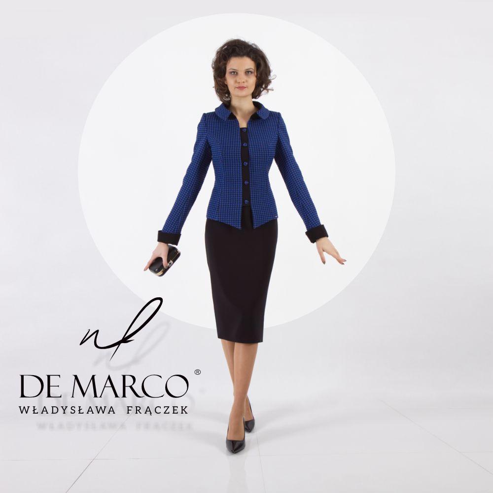 Kostium Damski Ze Spodnica Na Wideo Konferencjie Fashion Style Demarco