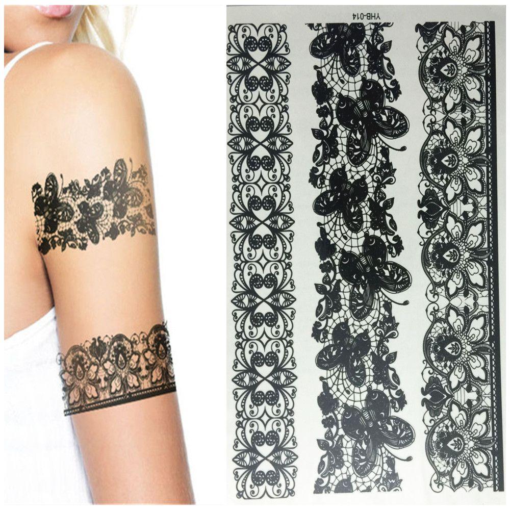 Pattern waterproof arm sleeve body shoulder temporary tattoo sticker - Henna Temporary Tattoo Kit Body Art Mehandi Ink Waterproof Temporary India Mehndi Tattoos Decals Henna Body