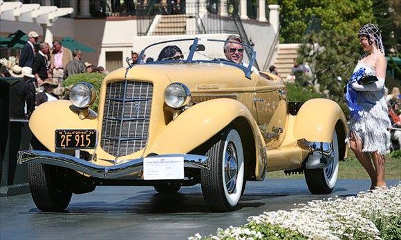 Quite the Looker, 1935, Auburn 851 Speedster. Auburn car