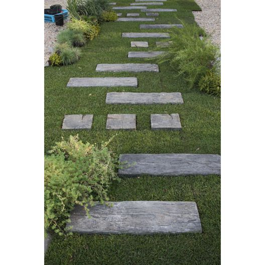 Traverse En Beton Stonewood 67 5 X 22 5 Cm Jardins Amenagement Jardin Dalle Jardin