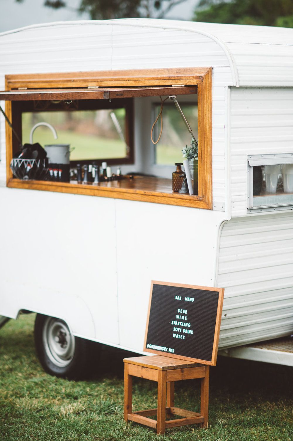 Boutique Caravan Bar Mobile Service For Weddings