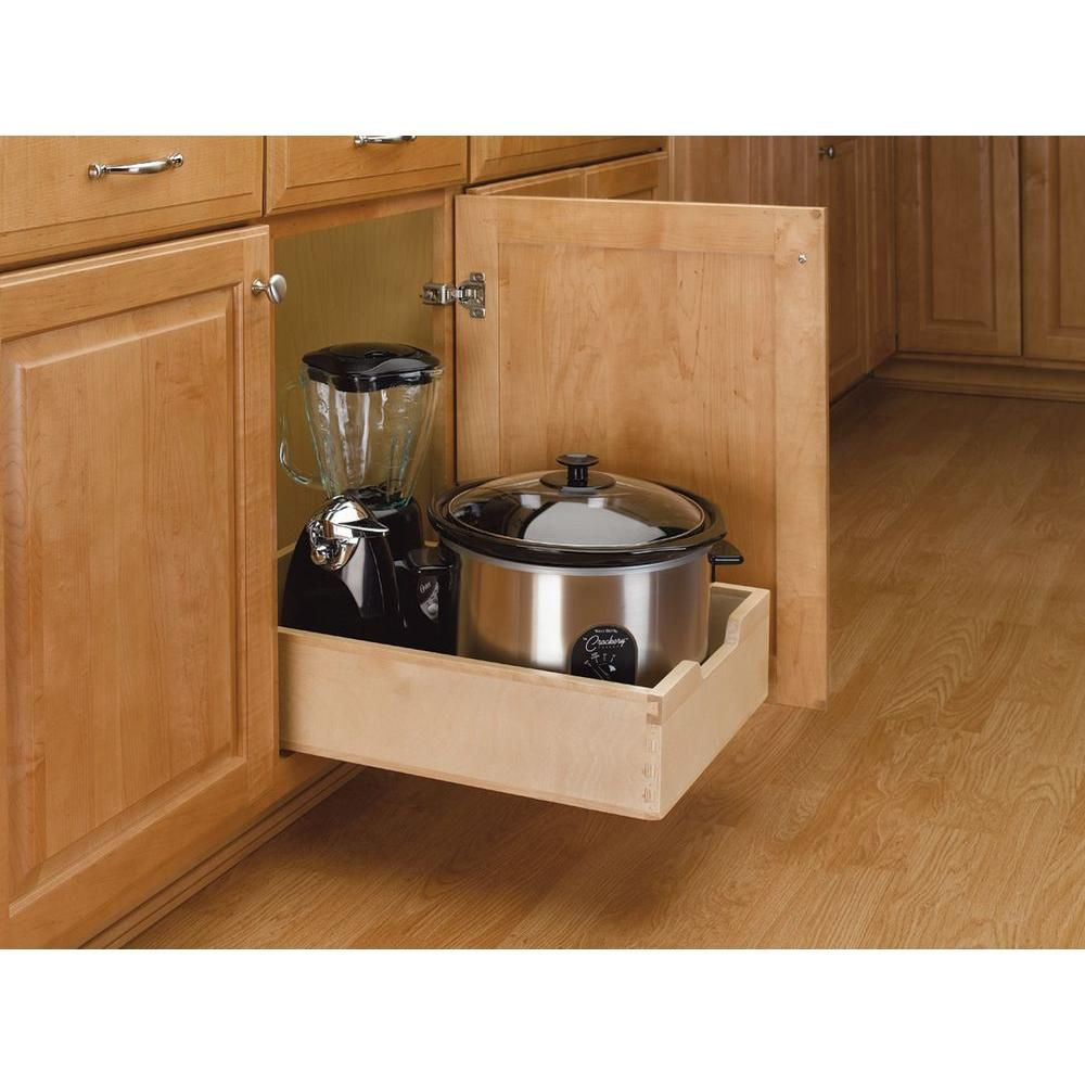 Rev A Shelf Medium Pull Out Wood Drawer 4wdb 15 The Home Depot Kitchen Cabinets Upgrade Pull Out Cabinet Drawers Kitchen Cabinets