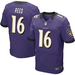 78.00--David Reed Jersey - Elite Nike Stitched Purple Home Baltimore Ravens   16 516e3f354