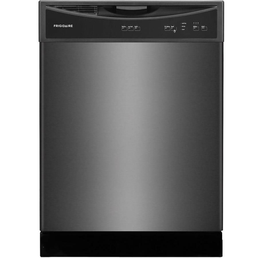 Frigidaire 60 Decibel Built In Dishwasher Black Stainless Steel Common 24 In Actual 24 In Lowes Com Black Dishwasher Built In Dishwasher Black Stainless Steel