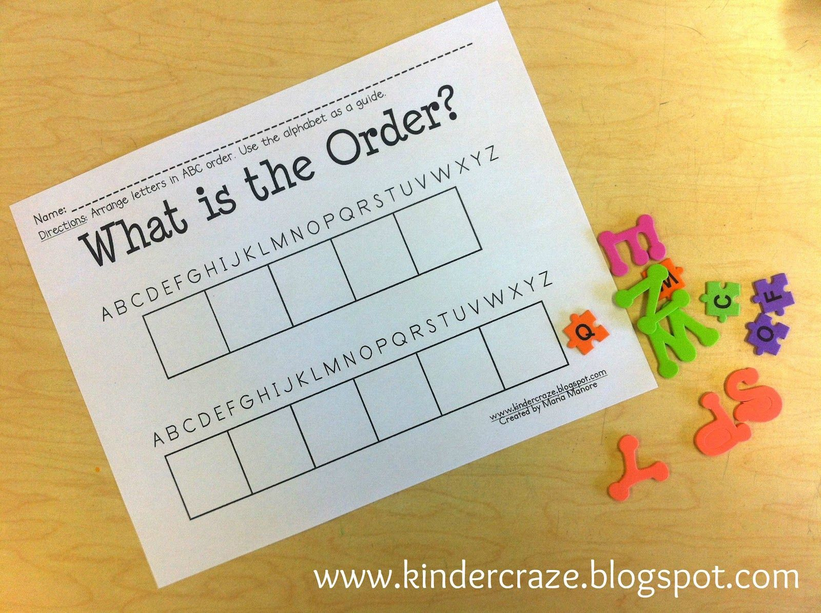 Abc Order Intro And Freebie With Images
