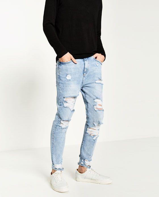 pantalones jeans hombre zara