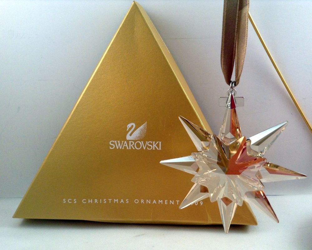 Swarovski SCS Golden Shadow 2009 Christmas Ornament 1st of Series