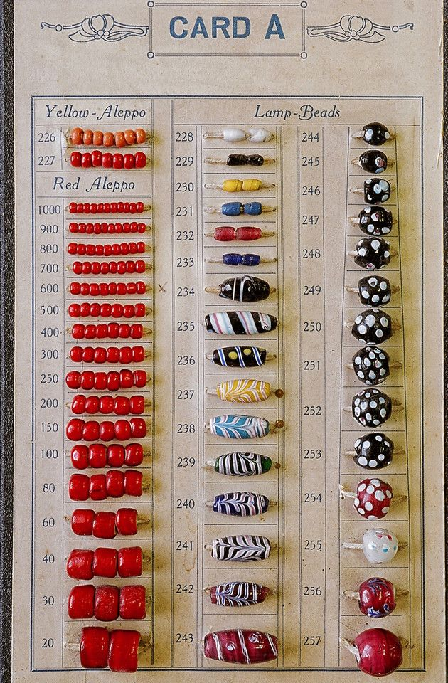 Venetian Sample Card Bead Sample Cards Pinterest Venetian - Sample Cards