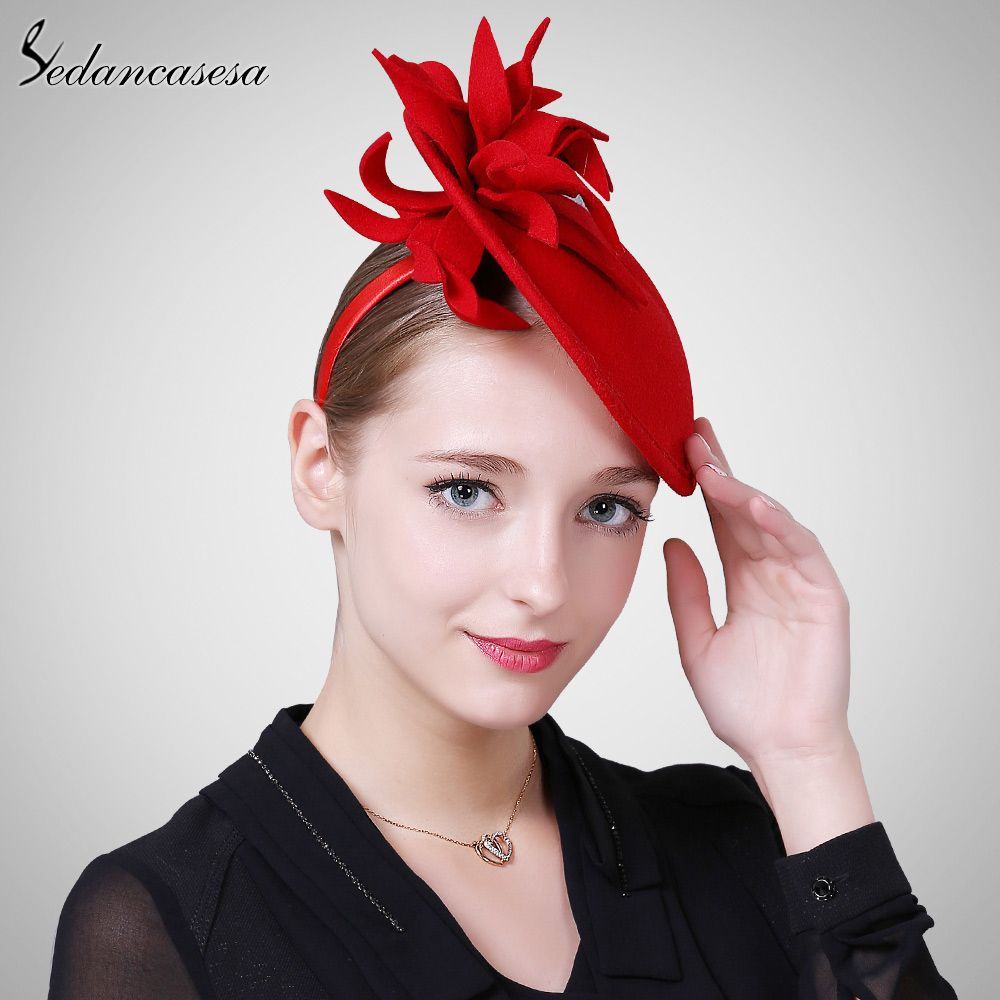 Autumn and winter Female Hat Body British Style wool retro Fascinator hats for Women Handmade Flower Isn`t it awesome? #shop #beauty #Woman's fashion #Products #Hat