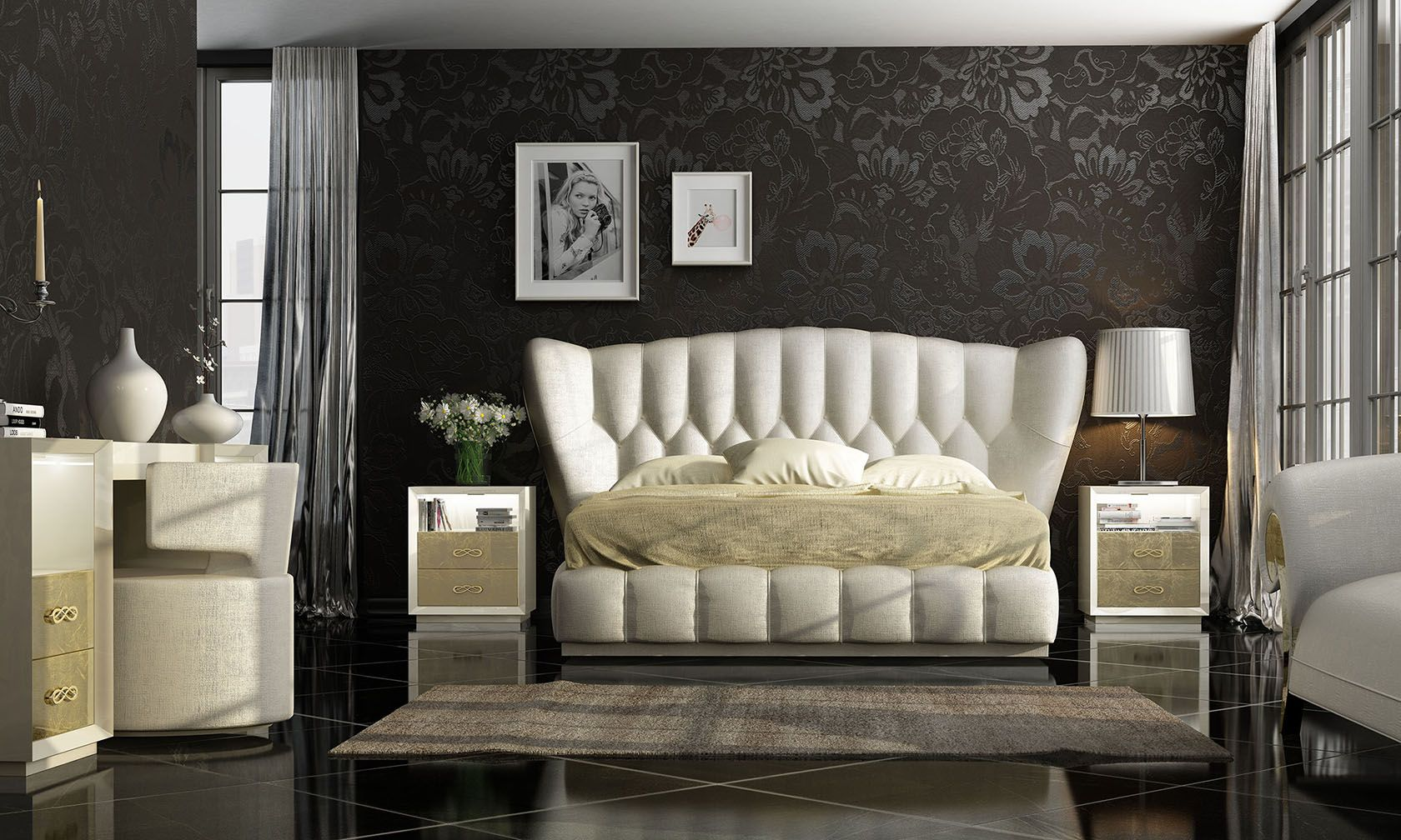 Cabecero y bancada tapizados van a la perfección   Dormitorios Kiu ...