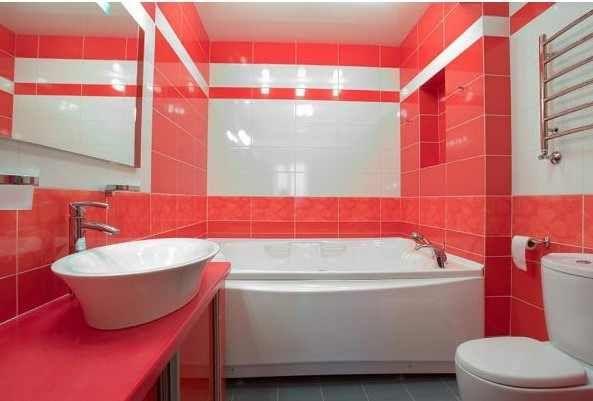 Bathroom Tiles Design White Red Bathroom Color Combinations