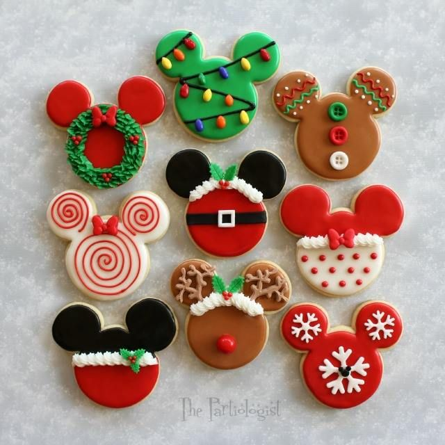 disney themed christmas cookies - Mickey Mouse Christmas Cookies