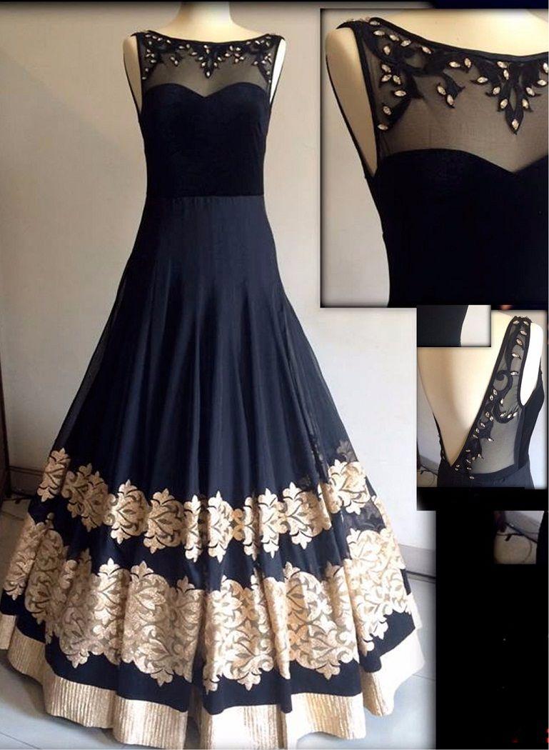 Buy Black Georgget Net Gown online | Craftsvilla | Indian Dress in ...