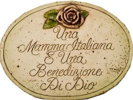 Amazon Com Italian Wall Plaque Italian Mother Is A Blessing From Heaven Home Kitchen Wall Plaques Italian Gifts Blessed