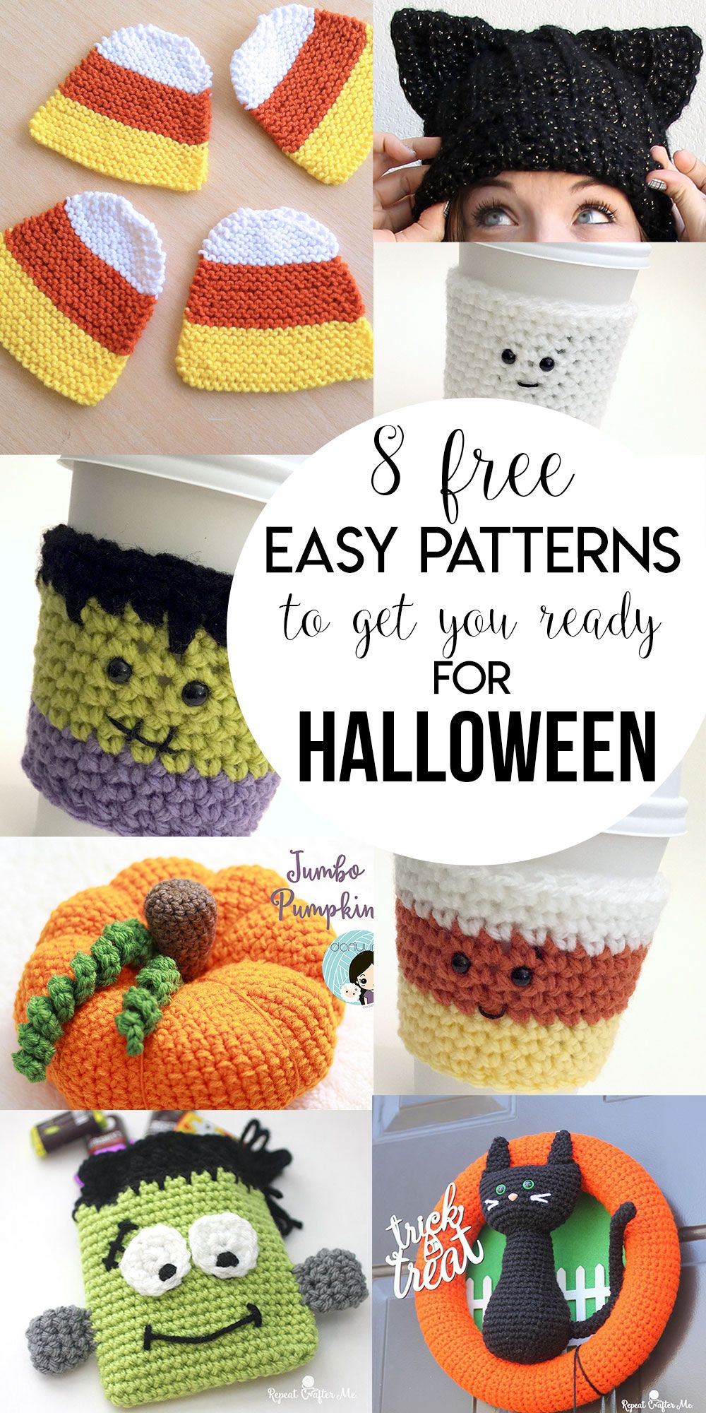8 Free Easy Patterns To Get You Ready For Halloween | Tejido ...