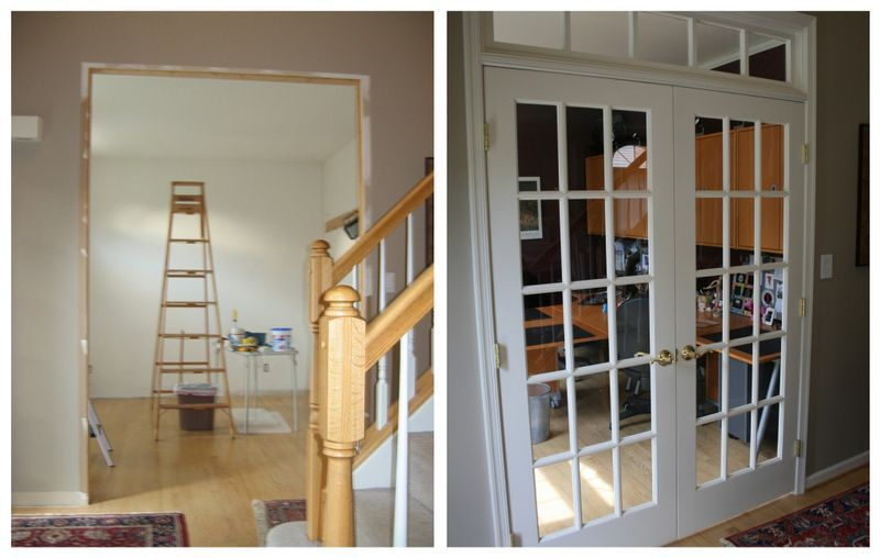 I want to add french doors and a transom window to our for Dining room ideas with french doors