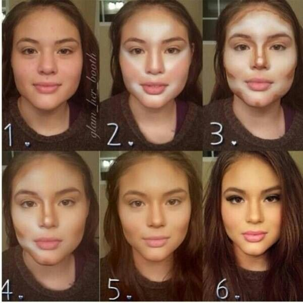 Beauty make up. Contouring