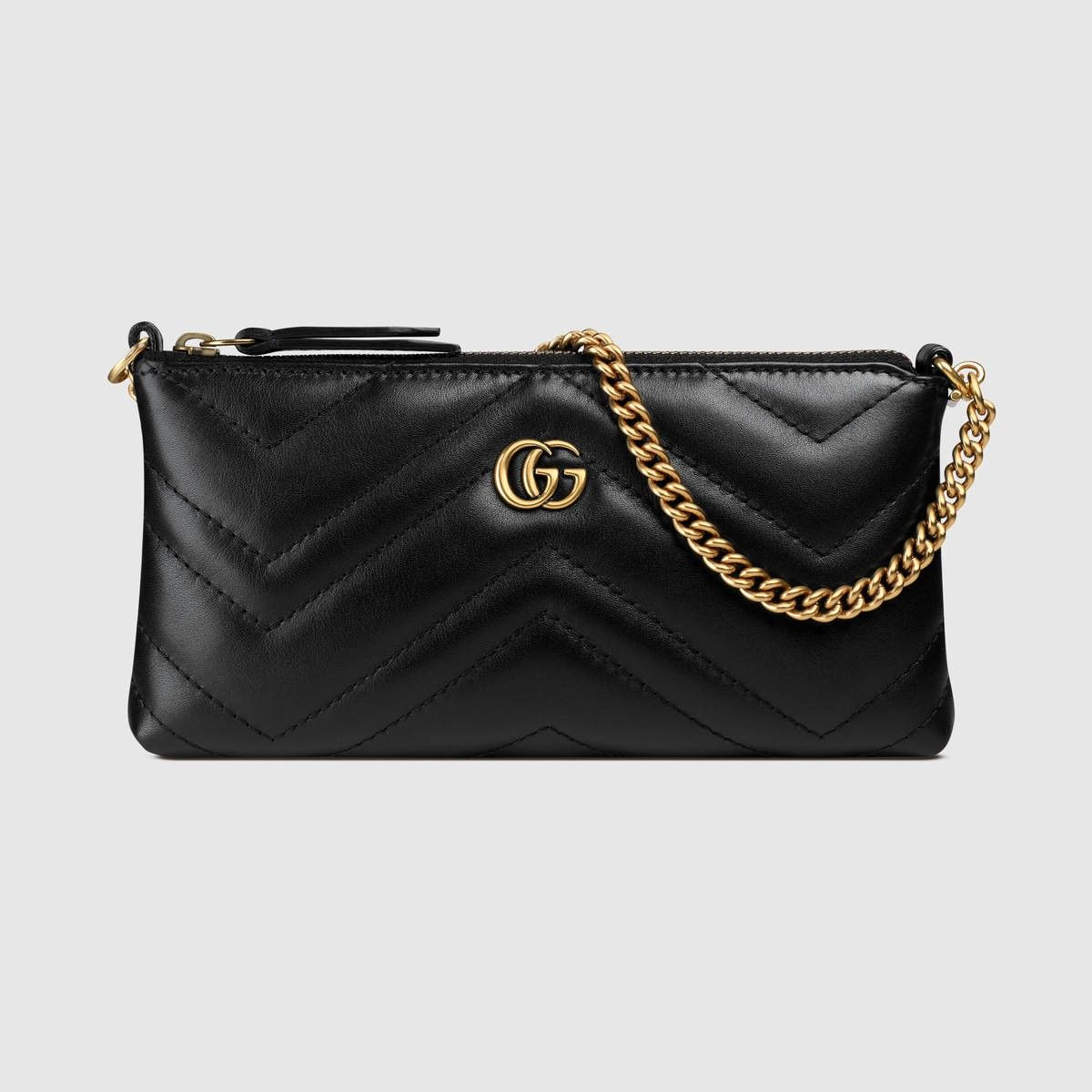 977f56152947 GUCCI Gg Marmont Chain Mini Bag - Black Leather. #gucci #bags #shoulder bags  #leather #pouch #accessories #