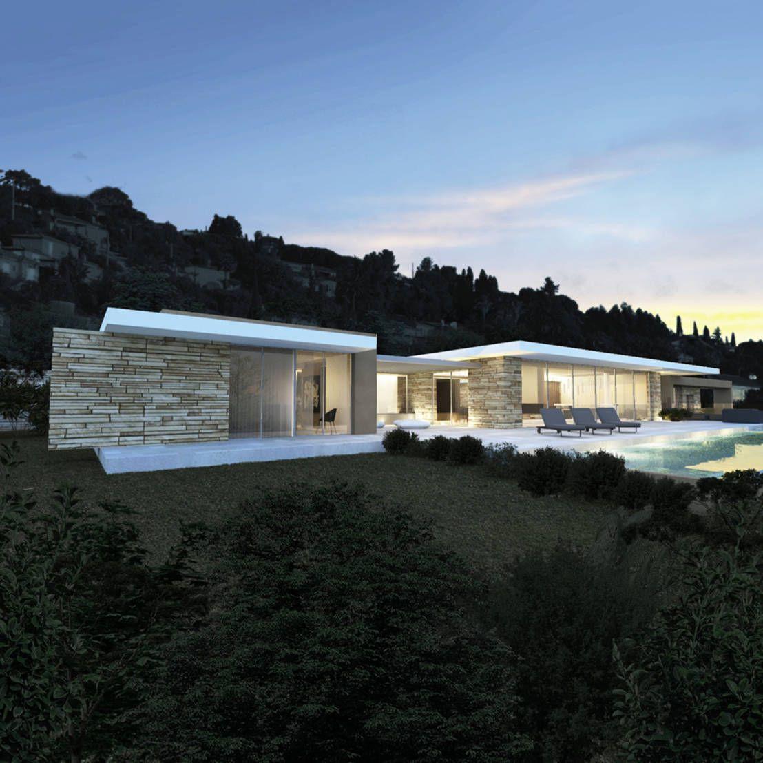 villa e saint tropez par arrivetz belle architecture pinterest villa contemporaine. Black Bedroom Furniture Sets. Home Design Ideas