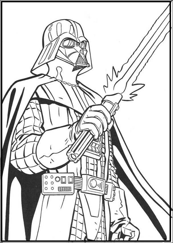 Darth Vader Star Wars Coloring Pages For Kids G3o Printable Star Wars Coloring Pages For Kids Malarbocker For Vuxna Malarbocker Malarbok