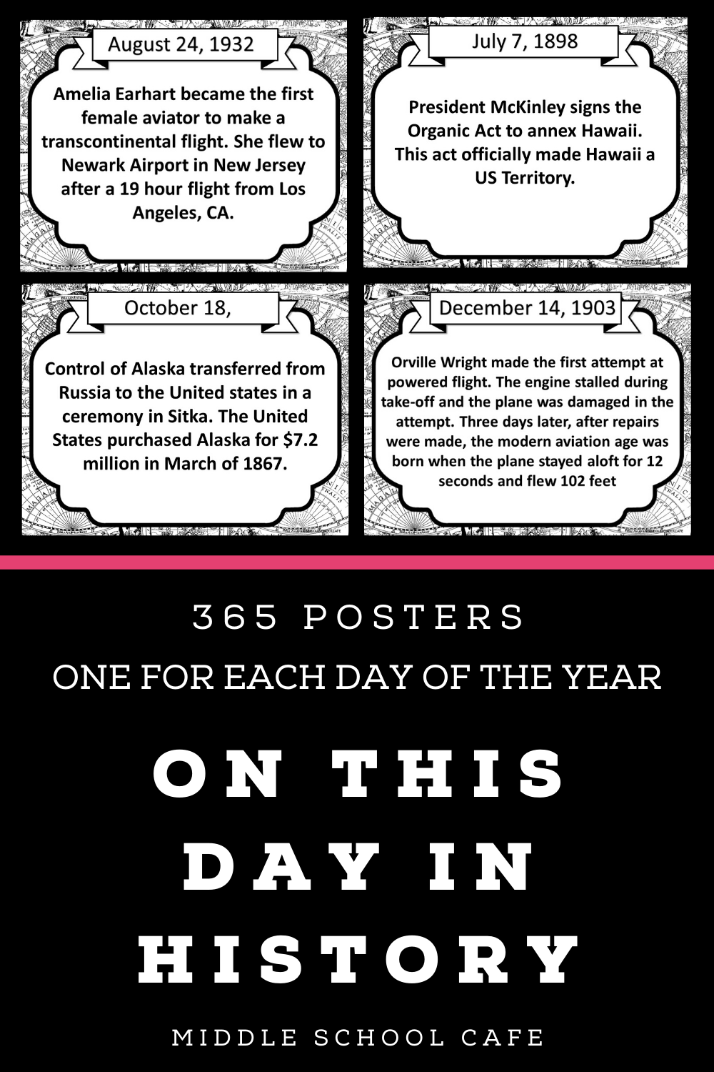 On This Day In Us History Poster Set In 2020 History Posters Us History History