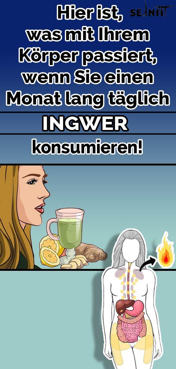 Hier ist, was mit Ihrem Körper passiert, wenn Sie einen Monat lang täglich Ingwer konsumieren!