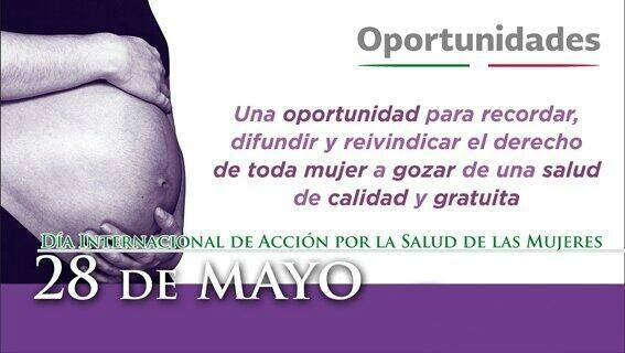 28 de mayo - Día Internacional de Acción por la Salud de la Mujer
