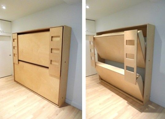 Casa Kids Tuck Bed Folds Away To Save Space Inhabitots Kid Beds Bunk Bed Plans Kids Bunk Beds