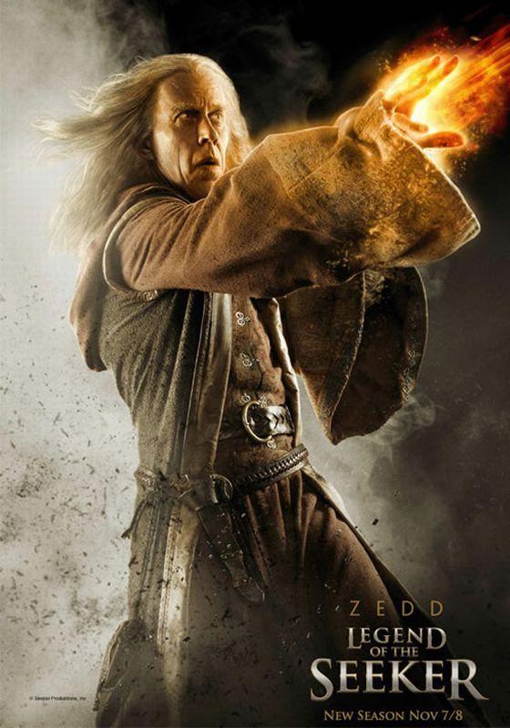 Bruce Spence as 'Zeddicus Zu'l Zorander' in Legend of the ...