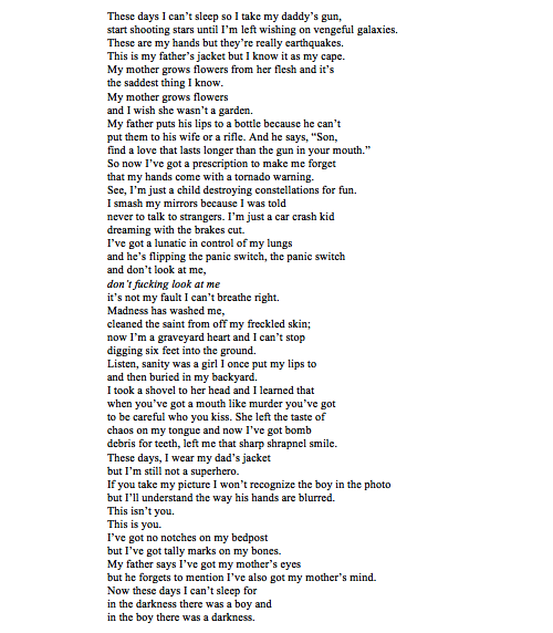 Dean Winchester ||| Supernatural Poem [This is painful    very