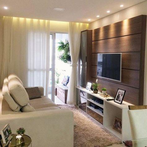Boa noite com essa lindeza de sala! ☺❤ Projeto Autoria de Ape 104 - ideas para decorar la sala