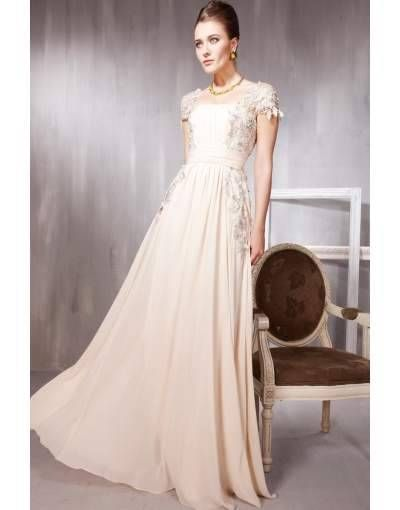 robe cocktail pour mariage bandeau rose brodee a encolure