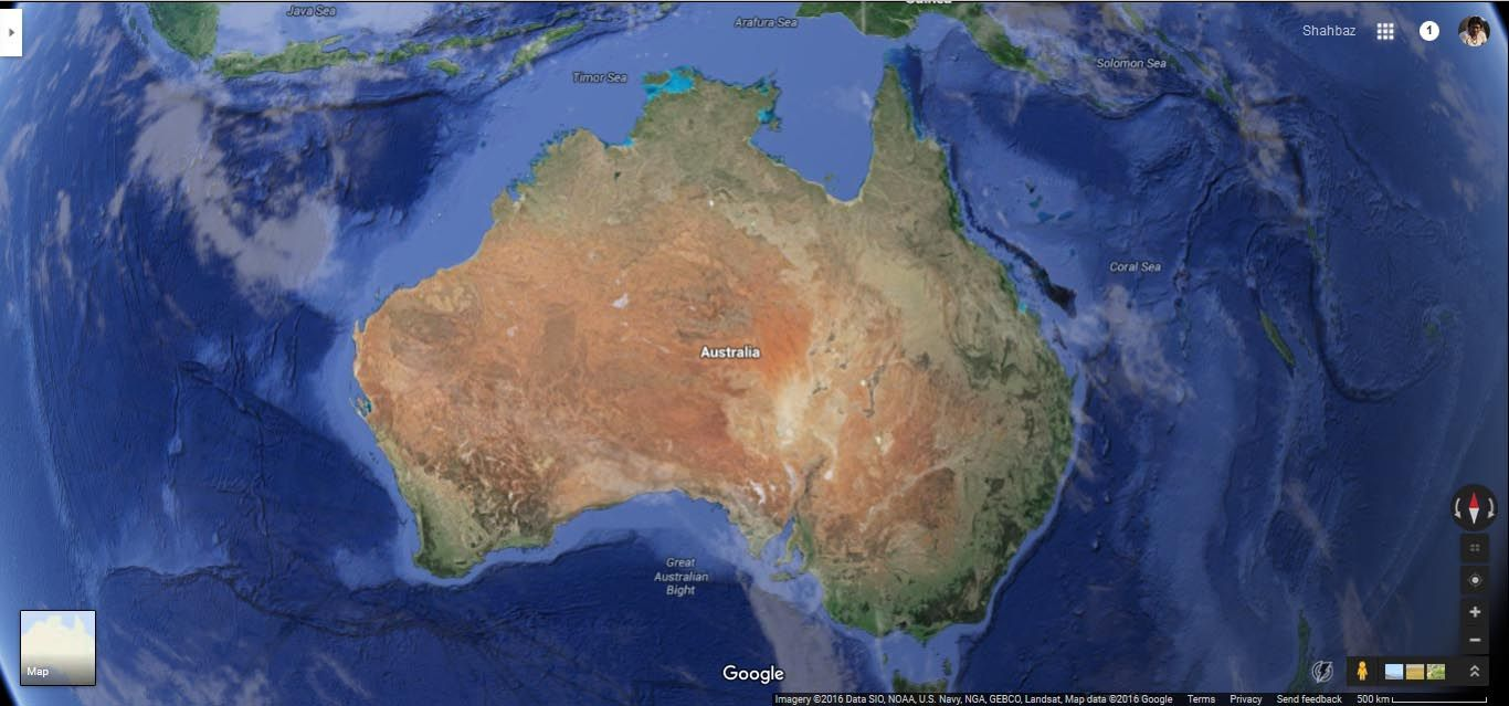 Australia Map Satellite.Australia Satellite Image Countries Map Australian Continent