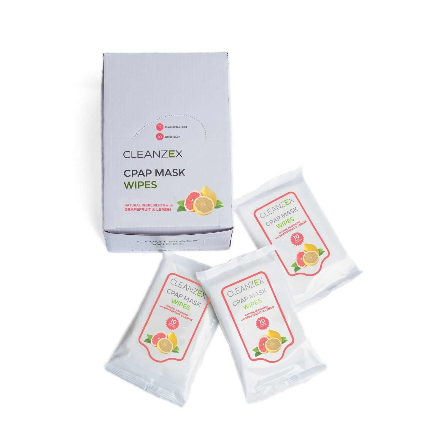 PÜRDOUX CPAP Mask Wipes with Grapefruit Lemon scent (Box of total ...