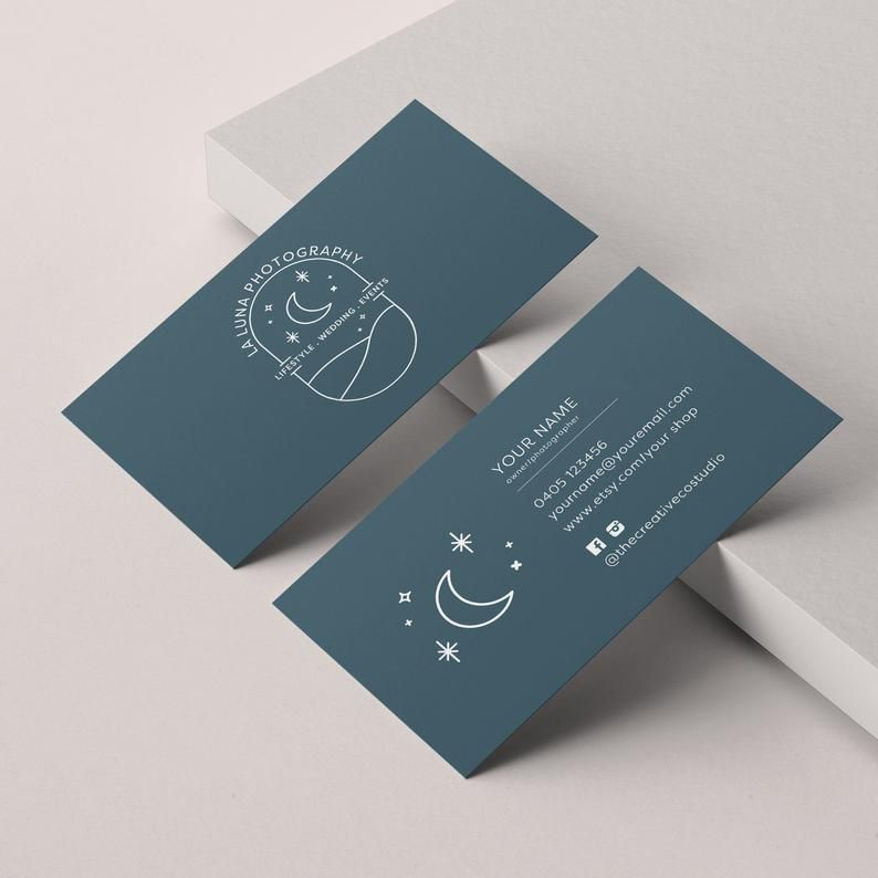 Premade Business Cards Made To Match Photographers Logo Etsy In 2020 Business Card Photographer Business Cards Creative Edge Painted Business Cards