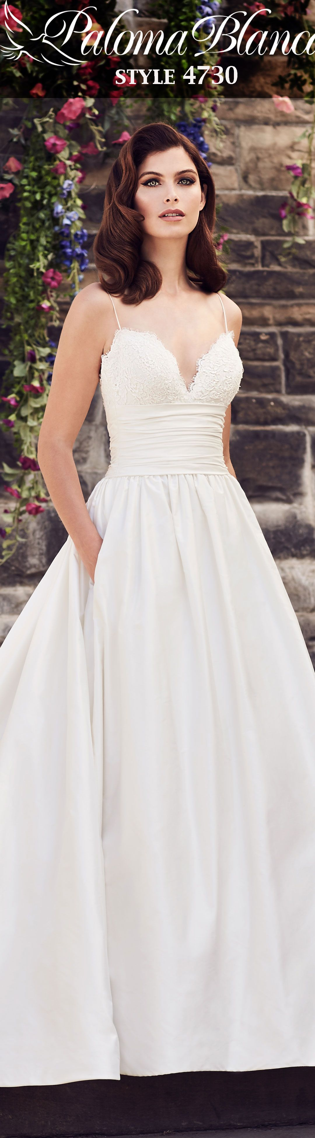 Silk A-Line Wedding Dress - Style #4730   Fabric covered button ...