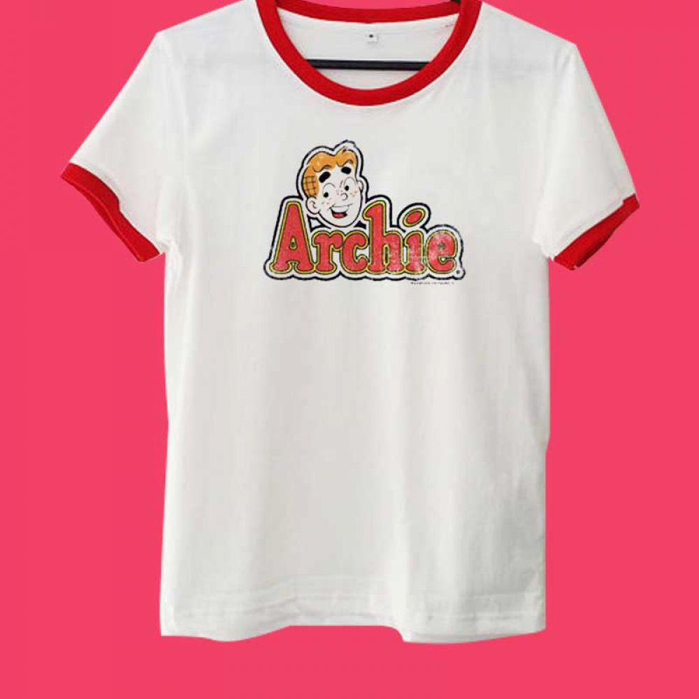 2c8f2edb Archie Comics Logo Ringer Tee Price : $14.50 Check out our brand new !