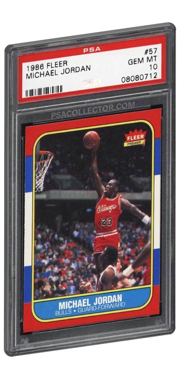 1986 Fleer Michael Jordan Rookie Card Psa 10 Gem Mint One