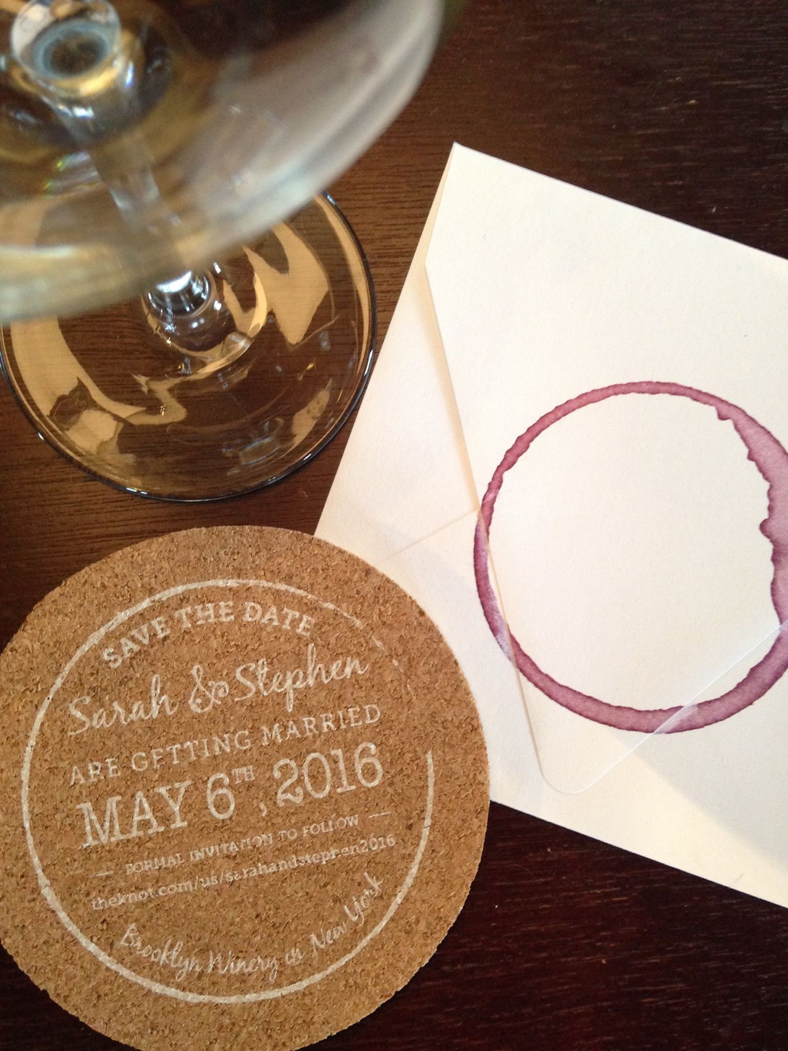 These cork \'Save the Dates\' are perfect for a winery wedding! www ...