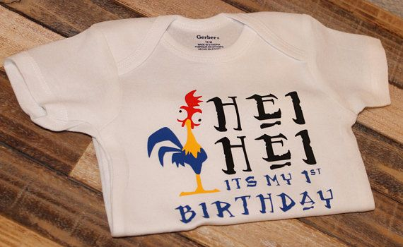 Made To Order Moana Hei Birthday Shirt Can Be Changed 2nd 3rd 4th Etc Message Me A Note When Purchasing If You Would Like Different Number On