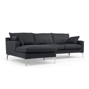 mendini left hand facing corner sofa group in anthracite grey ... - Angolo Chaise Whistler Grigio